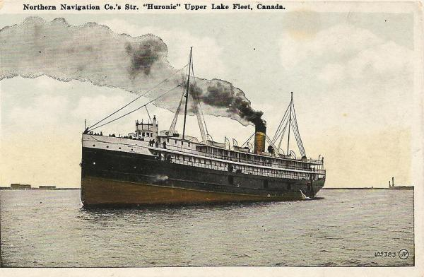 postcard of Huronic