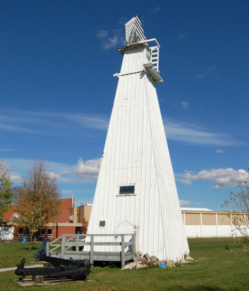 white range light tower